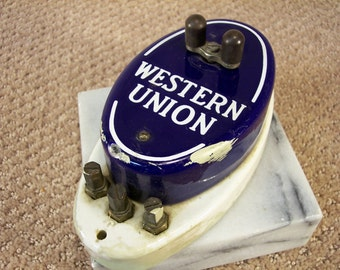 Antique Western Union Call Box