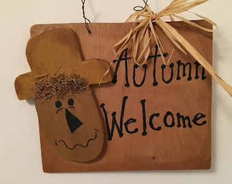 Autumn Welcome Sign!