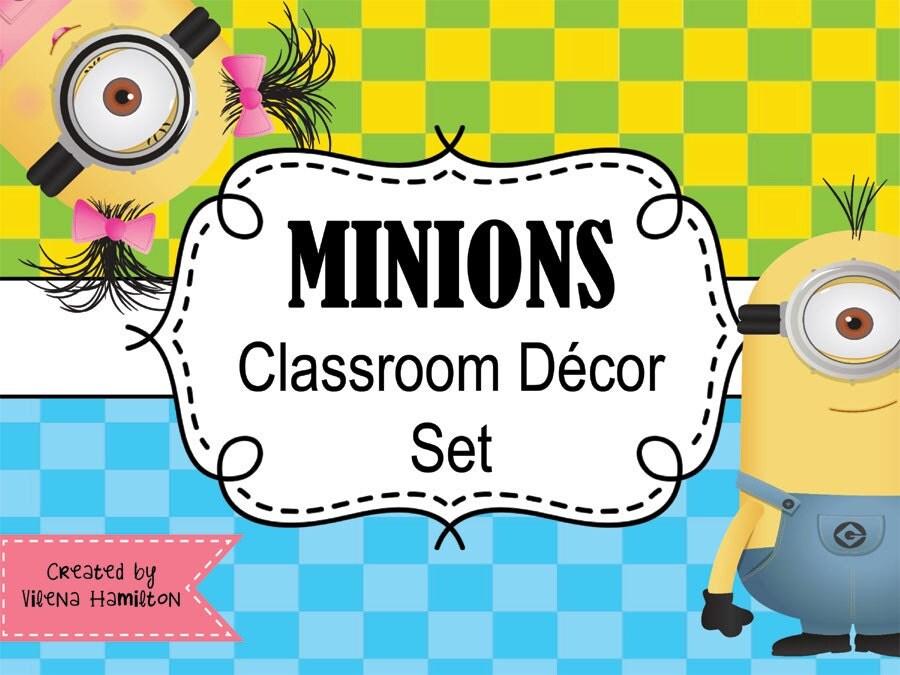 Classroom Decor Download : Classroom decor set minions instant download by vilenahamilton