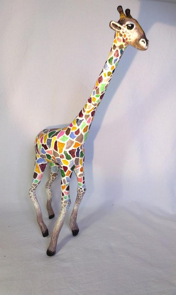 how to make a paper mache giraffe