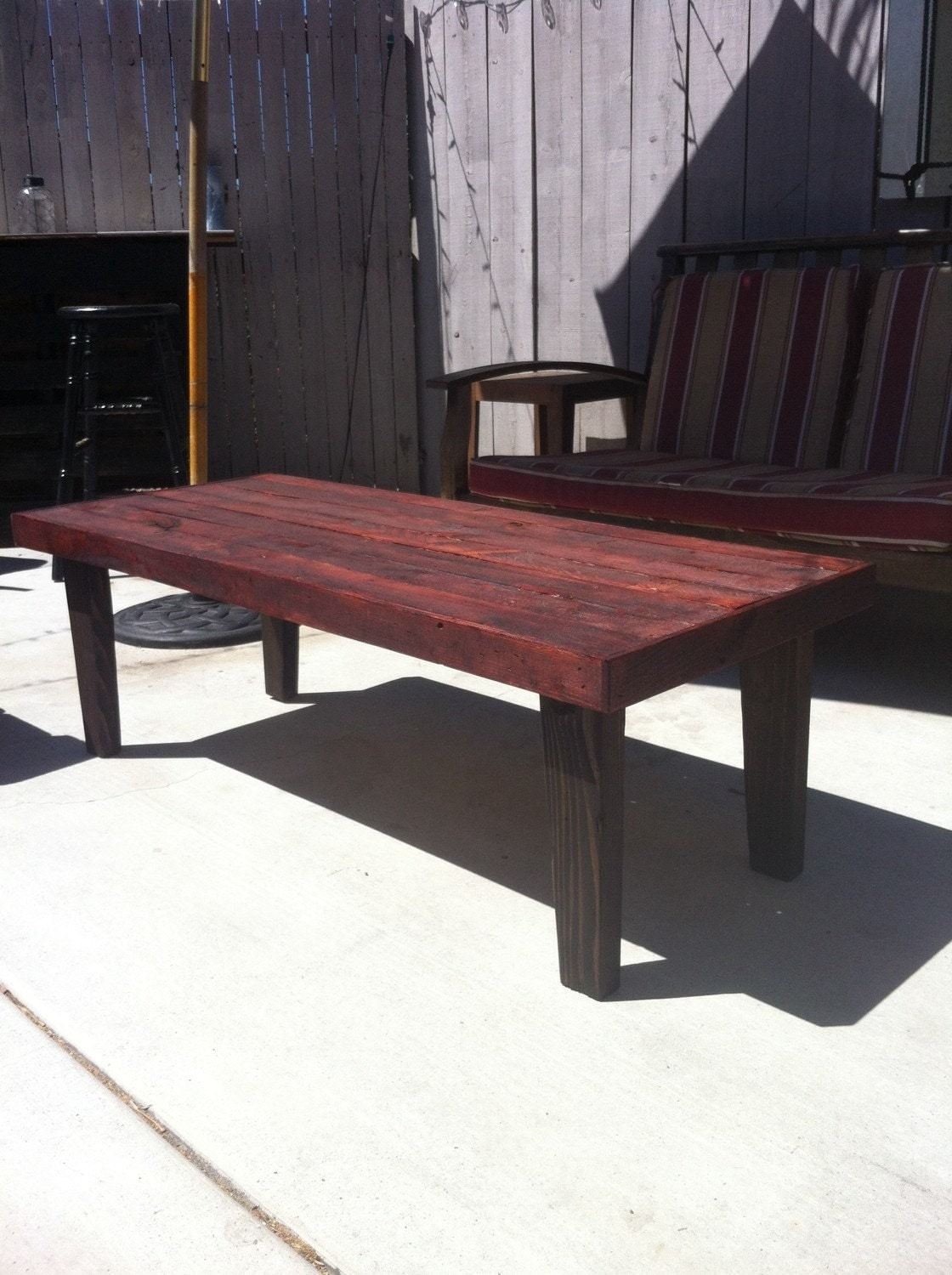 Bombay Mahogany Coffee Table Pallet Wood Reclaimed Hand