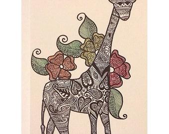 Henna Sketch - Giraffe