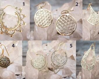 Beautiful Brass earrings