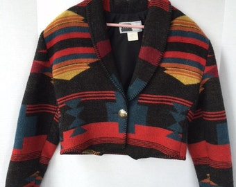 Southwestern cropped jacket, tag size med from the 90s