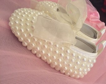 Hand Made Pearlized Shoes