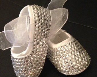 Hand Crystalized Baby Shoes