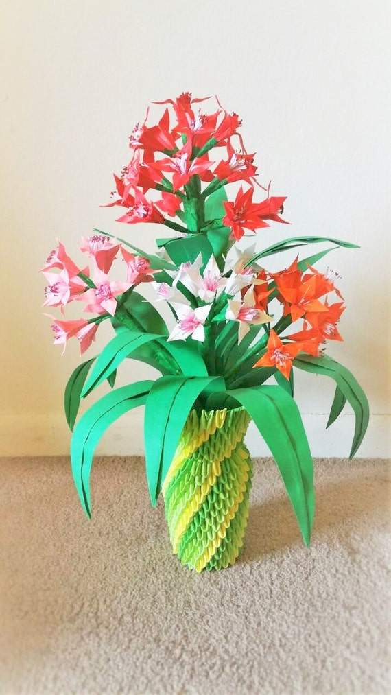 3d origami flower vase centerpice wedding decor home
