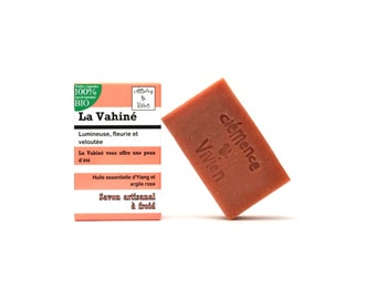 VAHINE essential oil of ylang ylang, sweet orange and Cedar cold SOAP / 100% organic vegetable oils