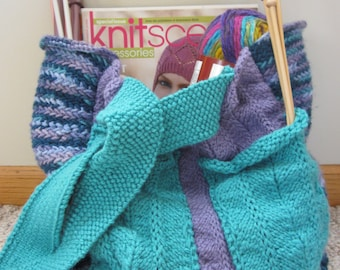 Knitted Tote Bag/Purse