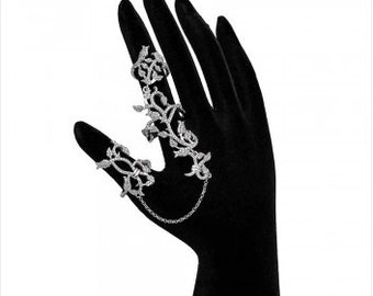 GIARDINO Sterling Silver Double Ring