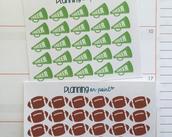 Football and Cheerleading Planner Stickers!