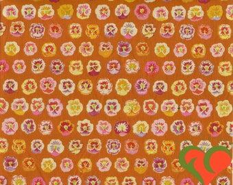 Early Kaffe Fassett Pansy Gold Fabric GP23 Half Yard. Extremely Rare. Retired. VHTF. OOP.