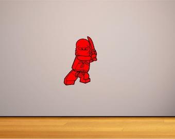 Custom Lego Ninjago Vinyl Decal minifigure wall art