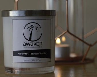 Gourmet Tahitian Vanilla- scented soy candle
