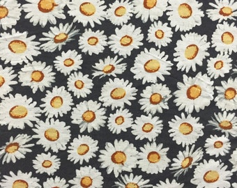 "100% ""Wet"" Cotton Jersey Daisy Print"