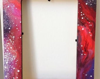 Hand-painted galaxy frame