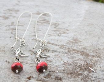 Coral Flight Earrings