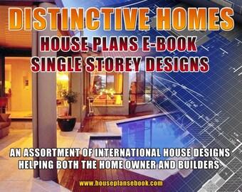House Plan Book-Distinctive Homes One Storey Australian and International Home Plans