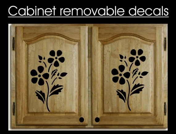 HOME DACOR 4 Removable Cabinet Decal Wall Sticker Art