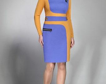 596, Women dress Plus size, Knitted fabric.  Elegant dress, festive dress, evening dress