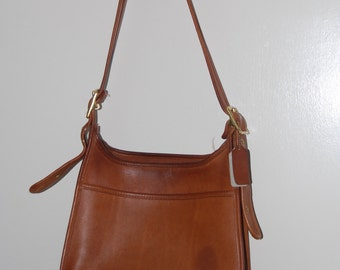 Vintage Tan Leather Coach Bag