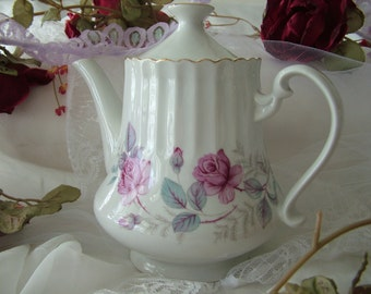 Coffee pot pink flower