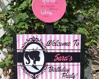 Barbie Yard Sign