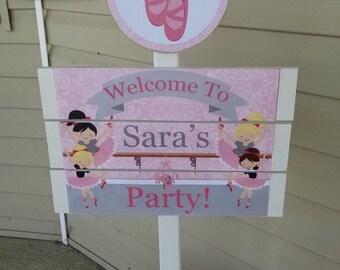 Ballerina Yard Sign