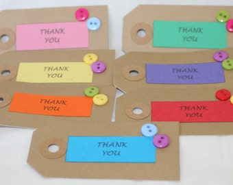 handmade style  gift tags   = Thank you