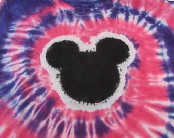 Mickey Mouse Tie Dye Pink/Purple Shirt/Top/Tee