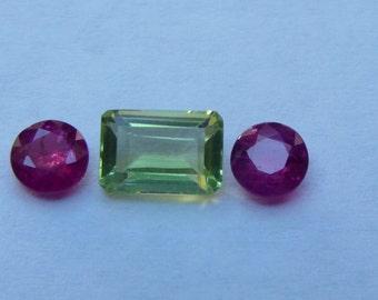 Peridot/Ruby Combo  Natural Stones!!!