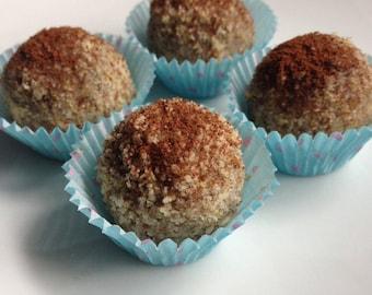 Raw Chocolate and coffee truffles