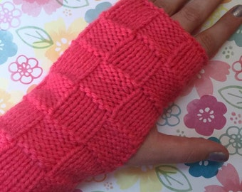 Adult Knitted Fingerless Gloves
