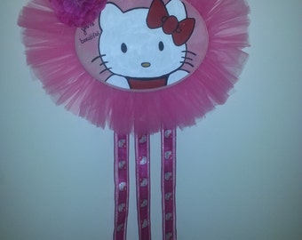 Hand crafted hello kitty bow holder