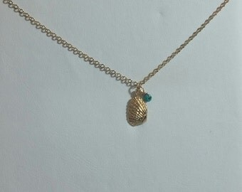 necklace shell,necklace goldfilled 14k, sea jewelry
