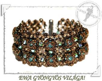 Catte 2 /rivoli/ beaded bracelet PDF pattern