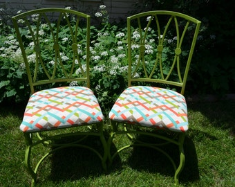 Set of 2 Now FUN Metal Dining Chairs