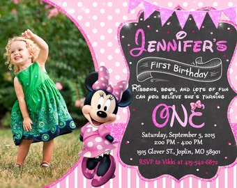 Minnie Mouse Invitation Birthday - Minnie Mouse Party