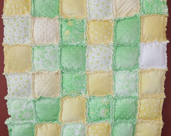 Puffy Cuddle Cloth Baby Quilt