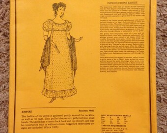 Unique Patterns of Historical Fashion Empire dress pattern