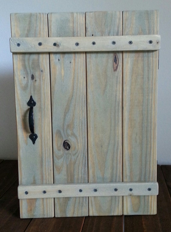 Rustic wall cabinet made from reclaimed repurposed pallet for How to make rustic cabinets