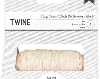 American Crafts Hemp Twine Spool (50 Yards) - Straw