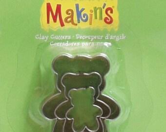 Makin's Clay Cutters (3 Pack) - Teddybear - Cookie Cutters