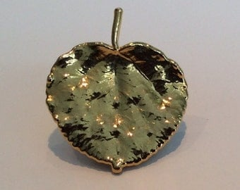 Gold Plated Aspen Leaf Pin
