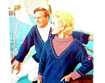 Vintage Mid-century 1959-1960 Ski & Sail Knits Book No.2 Knitting Book by Villawool featuring 15 knitting patterns