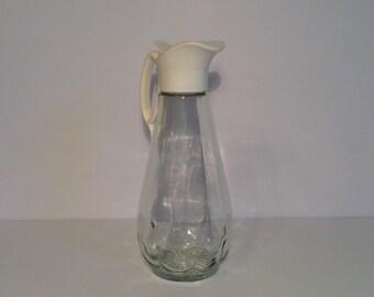 Vintage Glass Syrup Dispenser