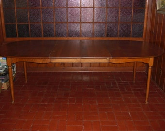 Vintage Sprague and Carleton Solid Maple Dining Table