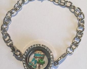 Beach Days Diamante Chain Locket Bracelet
