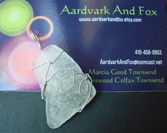 Swirly and Curly Popham Beach Glass Pendant