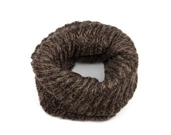 Brown Knit Snood